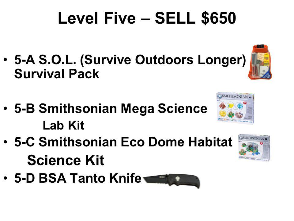 4-A Petzl Tikkina2 Headlamp 4-B Boy Scout Logo Stadium Seat 4-C Silva Polaris Compass 4-D Smithsonian Rock & Gem Dig Science Kit Level Four – SELL $45