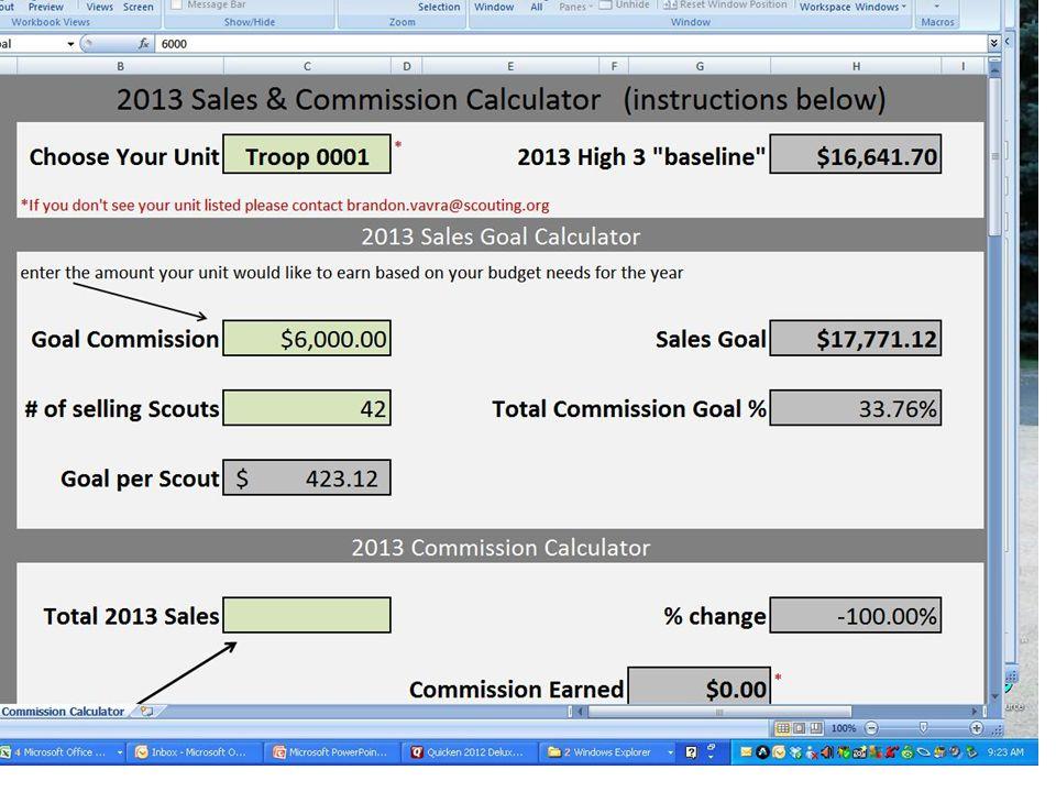 41 Brandons Commission Calculator