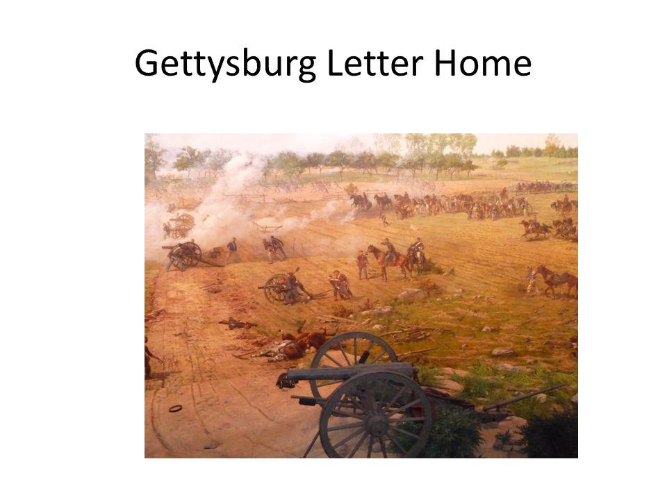 Gettysburg Letter Home