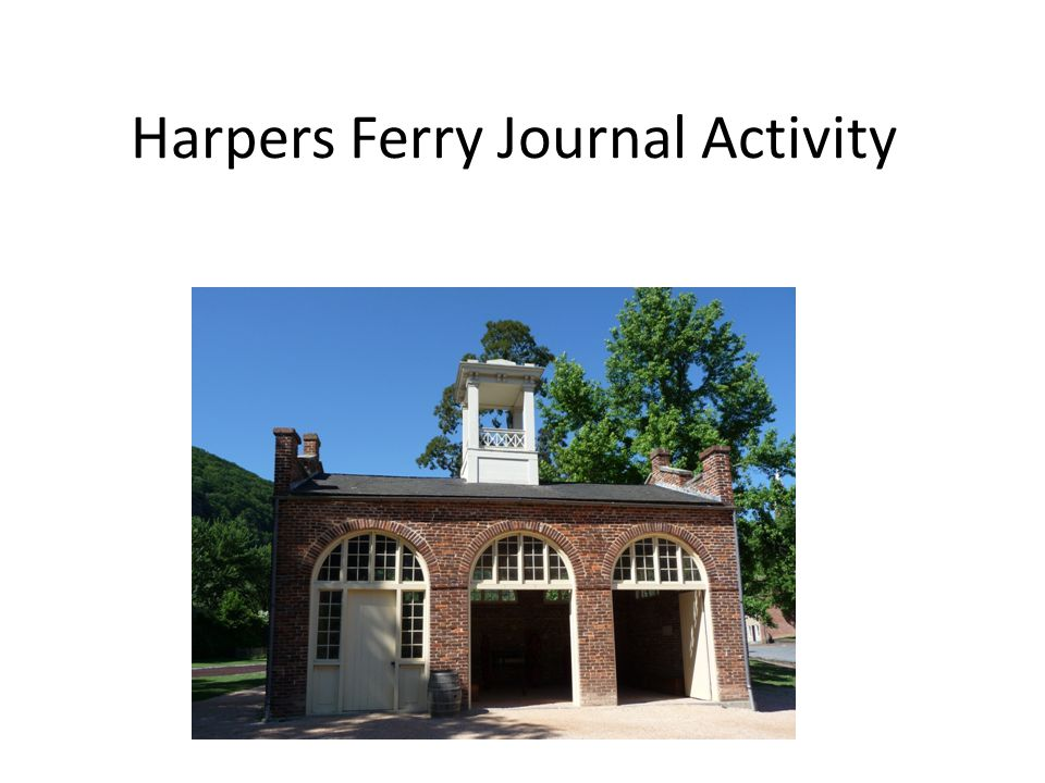Harpers Ferry Journal Activity