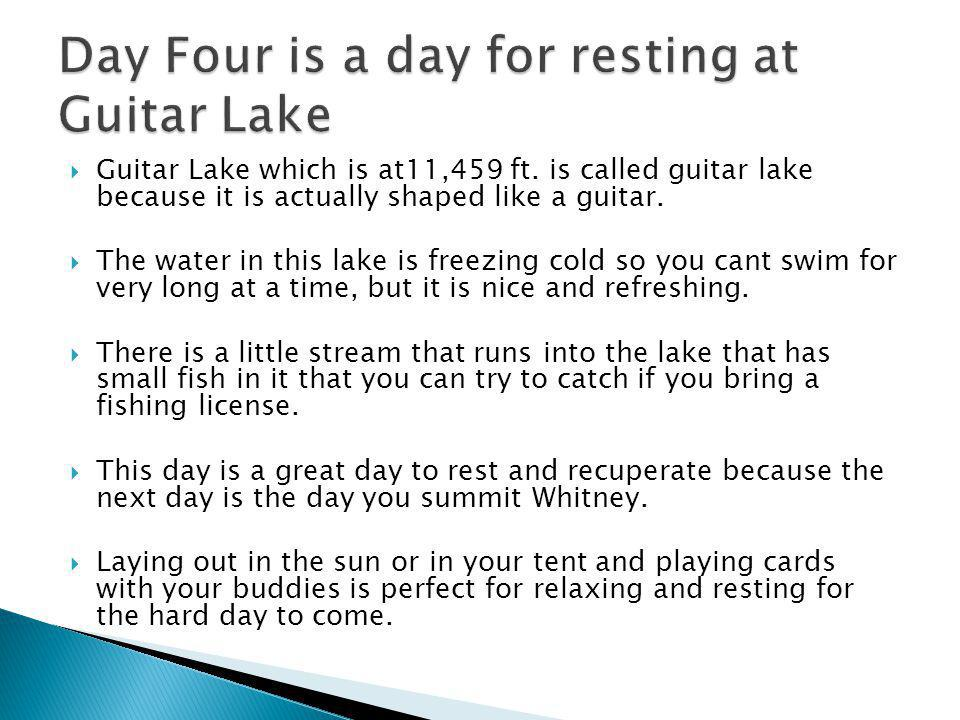 Guitar Lake which is at11,459 ft.