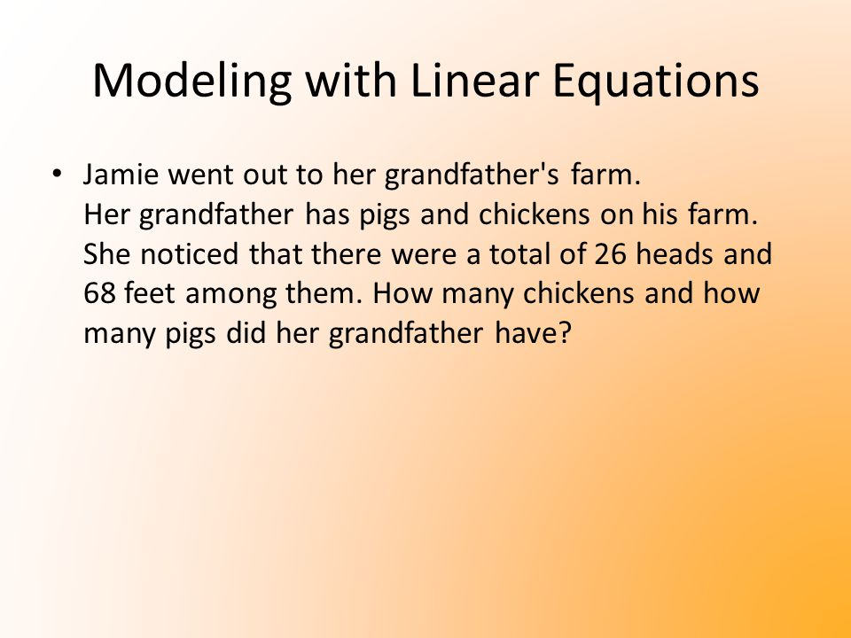 Modeling with Linear Equations Yasmin has $8000 to invest and would like to earn $500 from the money.