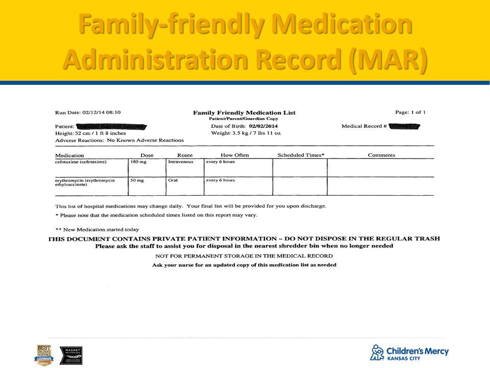 24 Family-friendly Medication Administration Record (MAR)
