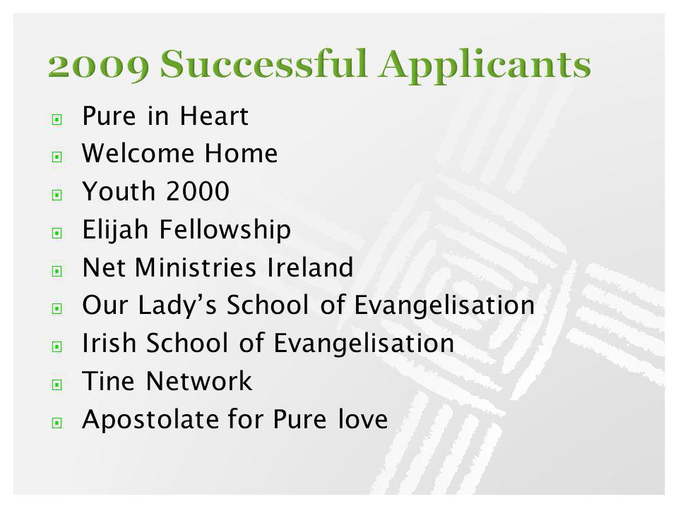 Pure in Heart Welcome Home Youth 2000 Elijah Fellowship Net Ministries Ireland Our Ladys School of Evangelisation Irish School of Evangelisation Tine