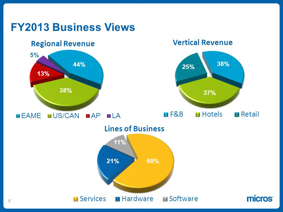 6 13% 5% 21% FY2013 Business Views