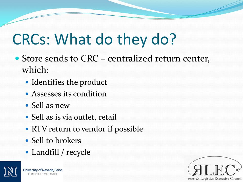 CRCs: What do they do.