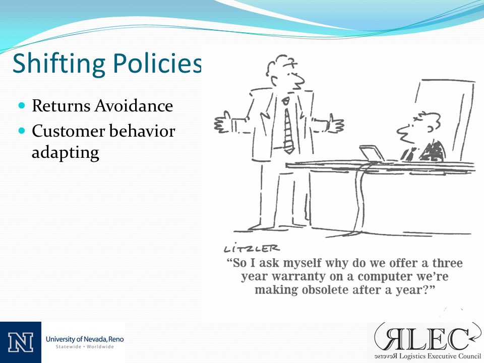 Shifting Policies Returns Avoidance Customer behavior adapting