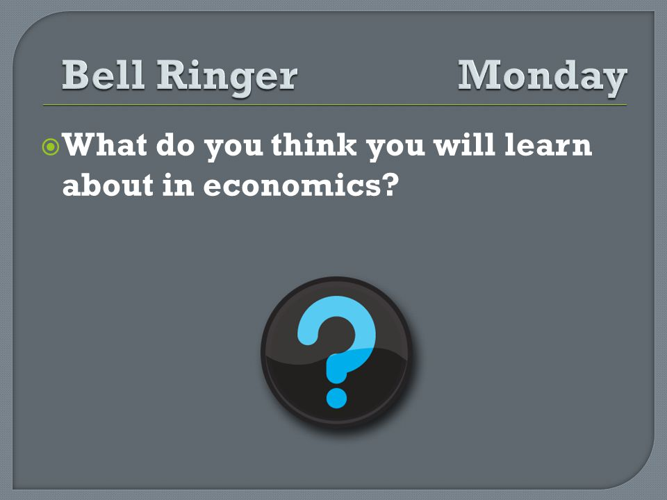 What do you think you will learn about in economics?