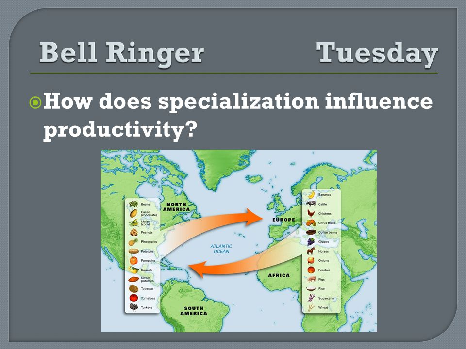 How does specialization influence productivity?