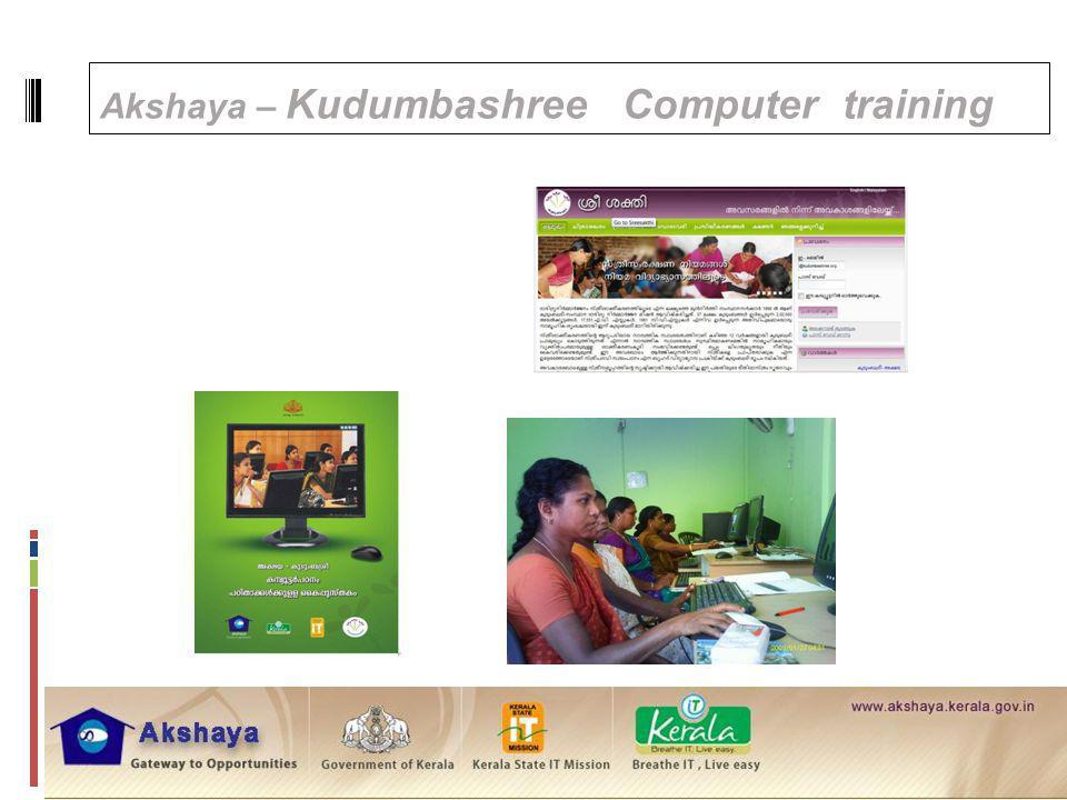 Akshaya – Kudumbashree Computer training