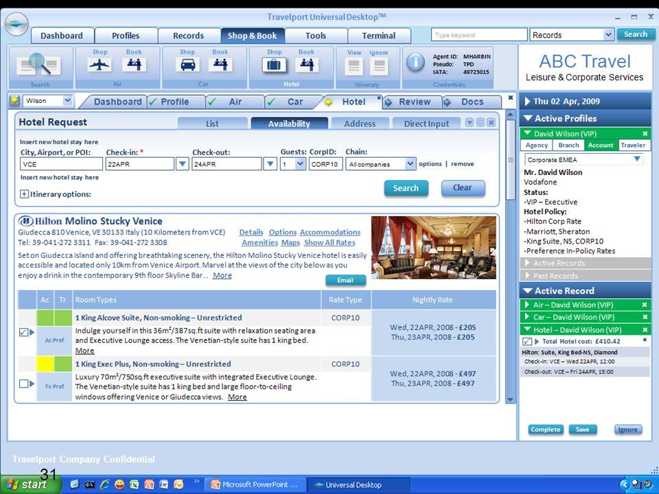 31 Travelport Company Confidential 31
