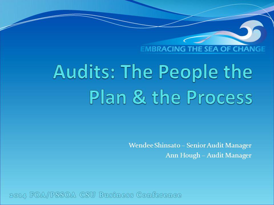 Wendee Shinsato – Senior Audit Manager Ann Hough – Audit Manager
