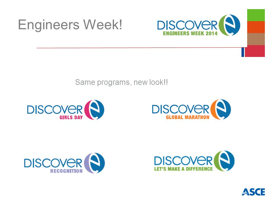 Engineers Week! Same programs, new look!!