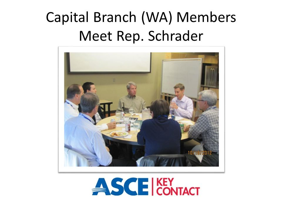 Capital Branch (WA) Members Meet Rep. Schrader