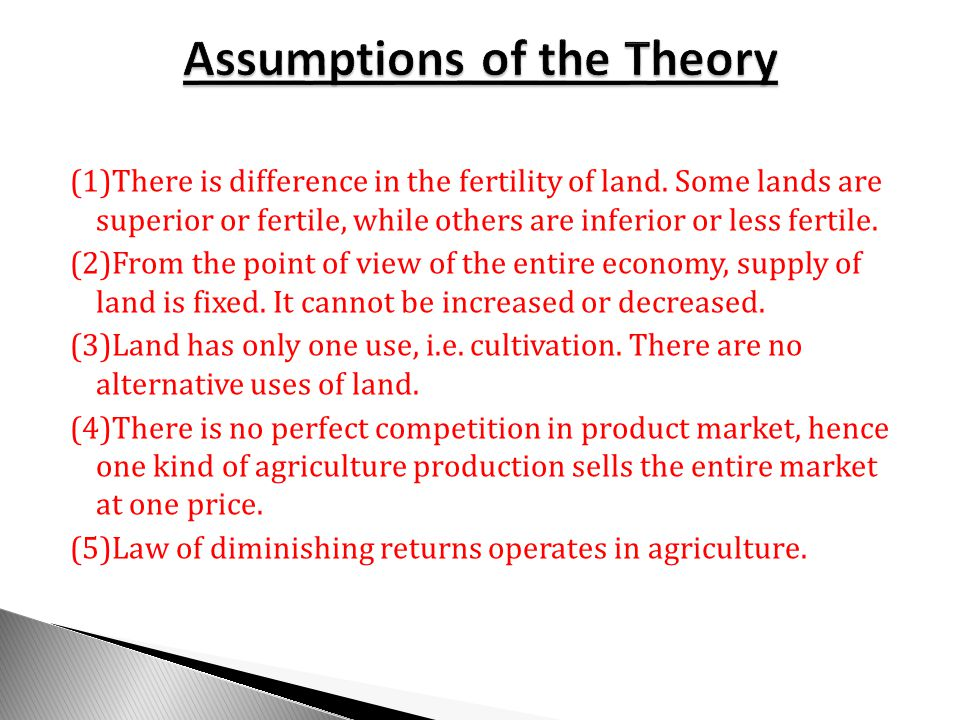(1)There is difference in the fertility of land.