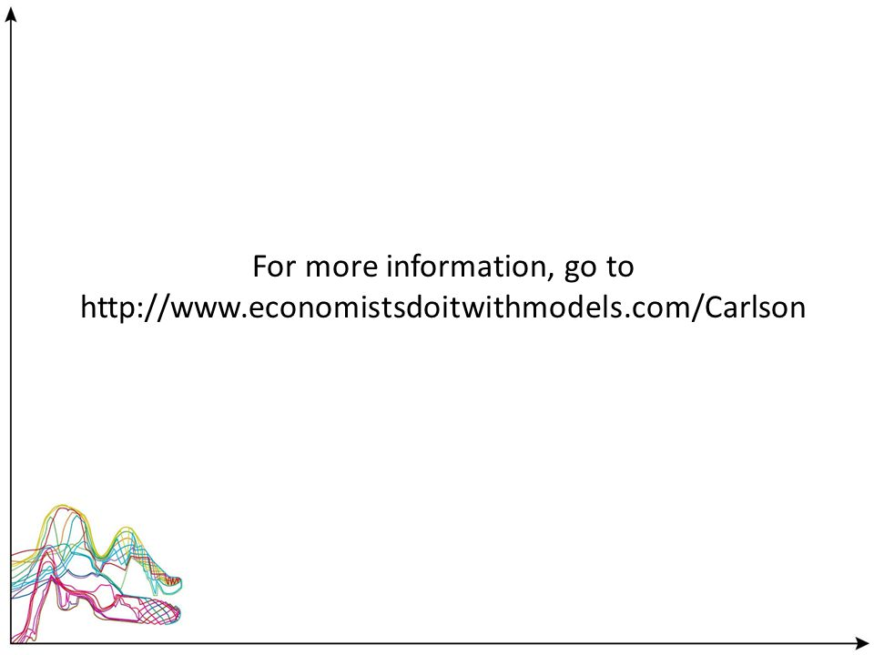 For more information, go to http://www.economistsdoitwithmodels.com/Carlson