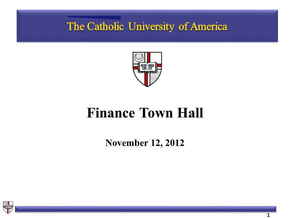 Finance Town Hall November 12, 2012 1