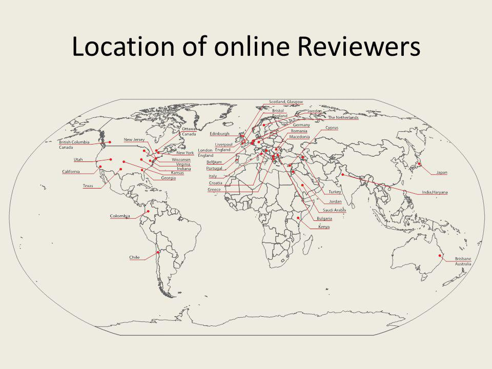 Location of online Reviewers