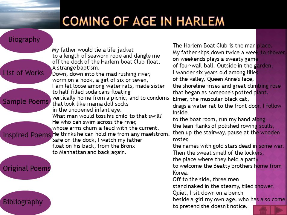 My father would tie a life jacket to a length of seaworn rope and dangle me off the dock of the Harlem boat Club float.