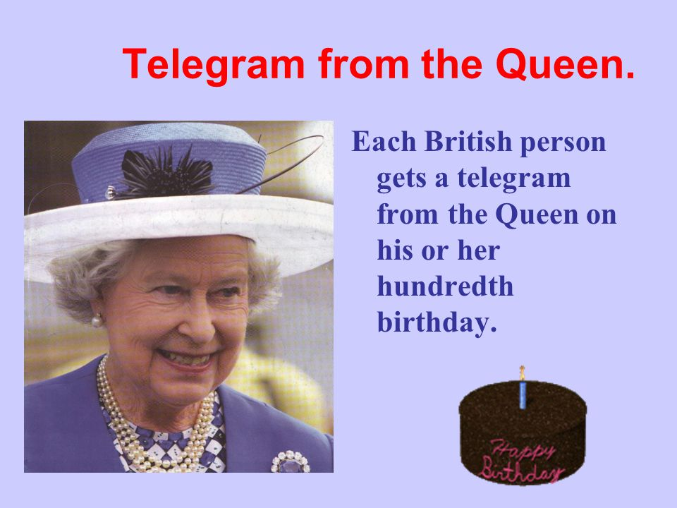 Telegram from the Queen.