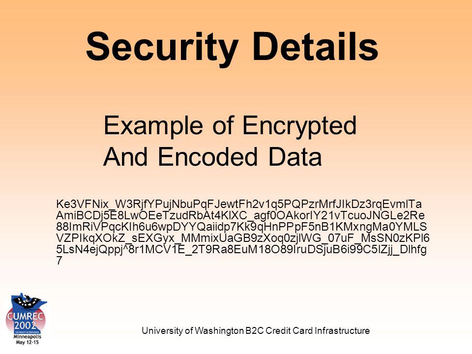 University of Washington B2C Credit Card Infrastructure Security Details Ke3VFNix_W3RjfYPujNbuPqFJewtFh2v1q5PQPzrMrfJIkDz3rqEvmlTa AmiBCDj5E8LwOEeTzudRbAt4KlXC_agf0OAkorIY21vTcuoJNGLe2Re 88ImRiVPqcKIh6u6wpDYYQaiidp7Kk9qHnPPpF5nB1KMxngMa0YMLS VZPIkqXOkZ_sEXGyx_MMmixUaGB9zXoq0zjlWG_07uF_MsSN0zKPl6 5LsN4ejQppj^8r1MCV1E_2T9Ra8EuM18O89IruDSjuB6i99C5lZjj_Dlhfg 7 Example of Encrypted And Encoded Data