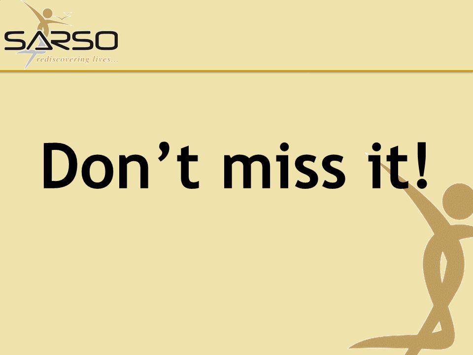 Dont miss it!