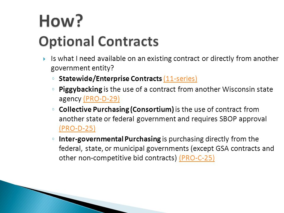 Is what I need available on an existing contract or directly from another government entity.