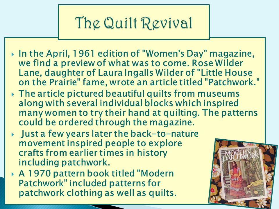 In the April, 1961 edition of Women s Day magazine, we find a preview of what was to come.