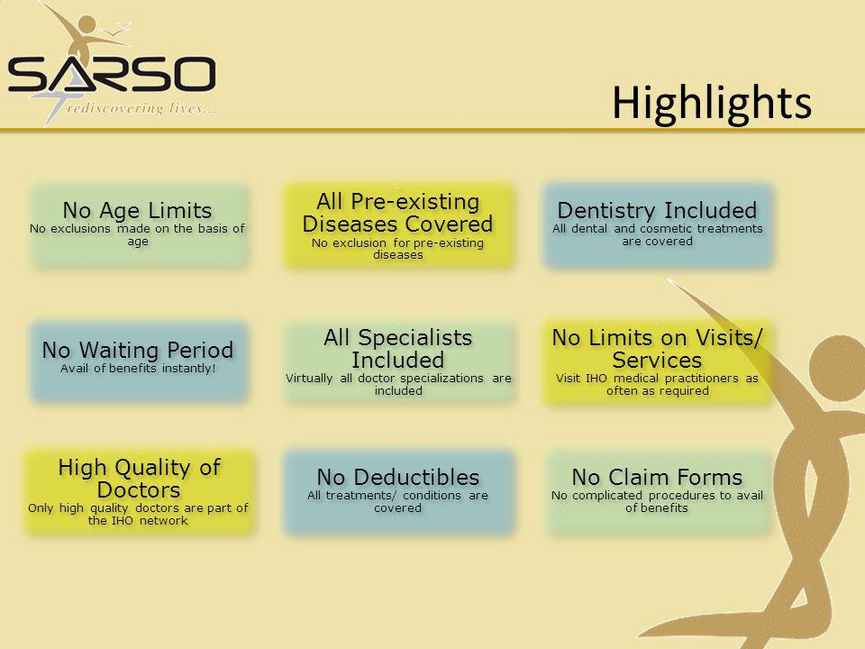 Highlights No Age Limits No exclusions made on the basis of age No Age Limits No exclusions made on the basis of age.
