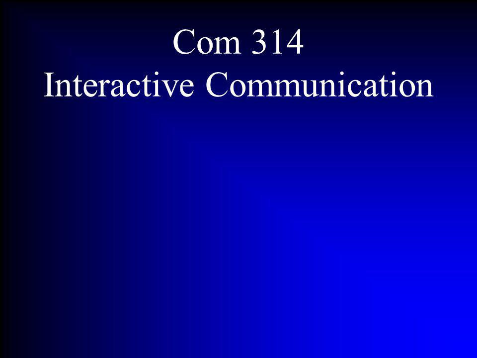 Com 314 Interactive Communication