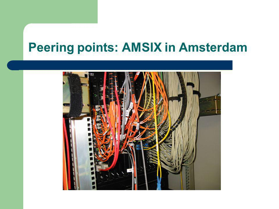 Peering points: AMSIX in Amsterdam