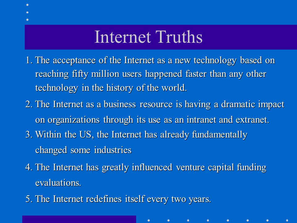 The Dawn of E-Life Once a novelty, the Internet is now transforming how Americans live, think, talk and love; how we go to school, make money, see the doctor and elect presidents.
