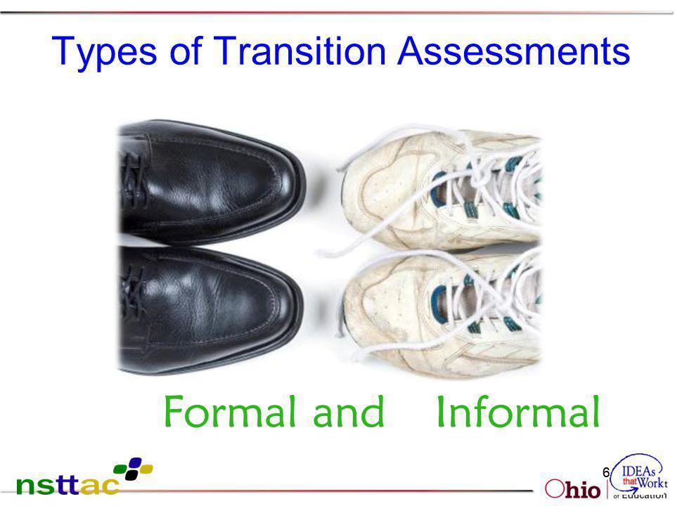 61 Types of Transition Assessments Formal andInformal