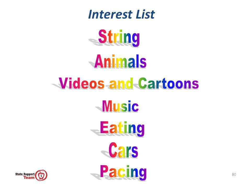 80 Interest List