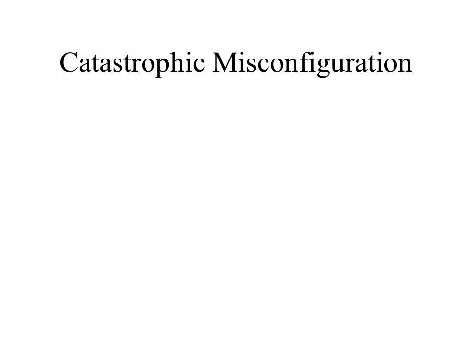 Catastrophic Misconfiguration