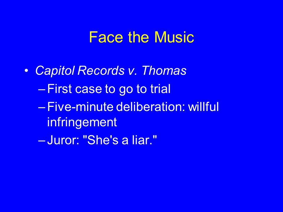 Face the Music Capitol Records v.