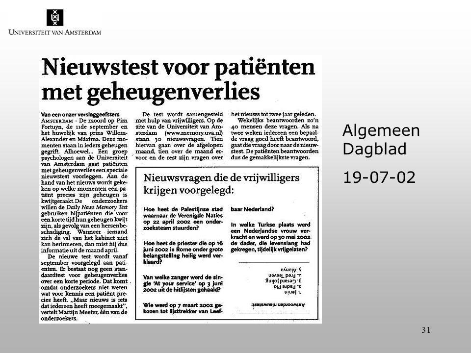31 Algemeen Dagblad 19-07-02