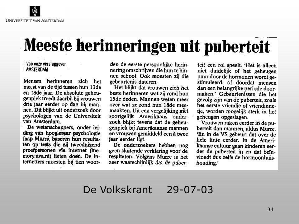 34 De Volkskrant 29-07-03