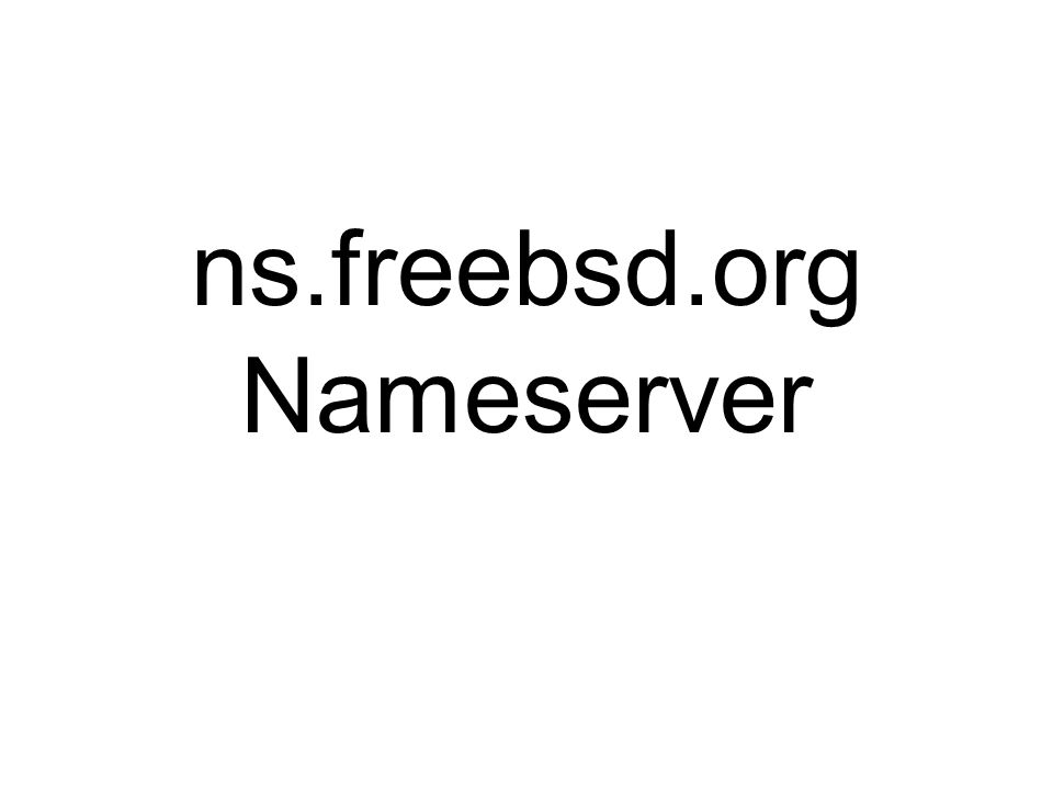 ns.freebsd.org Nameserver