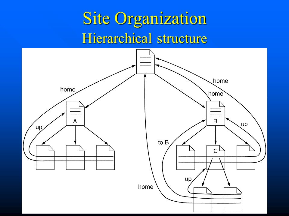 Internet Programming50 Site Organization Hierarchical structure