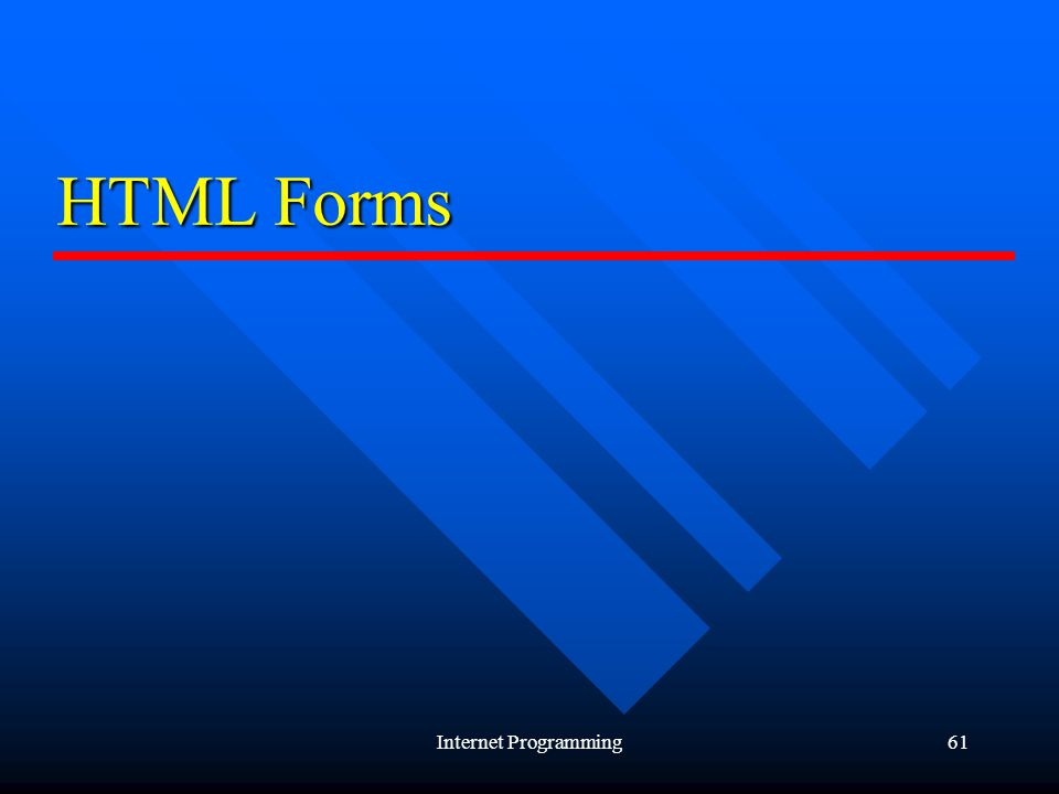 Internet Programming61 HTML Forms