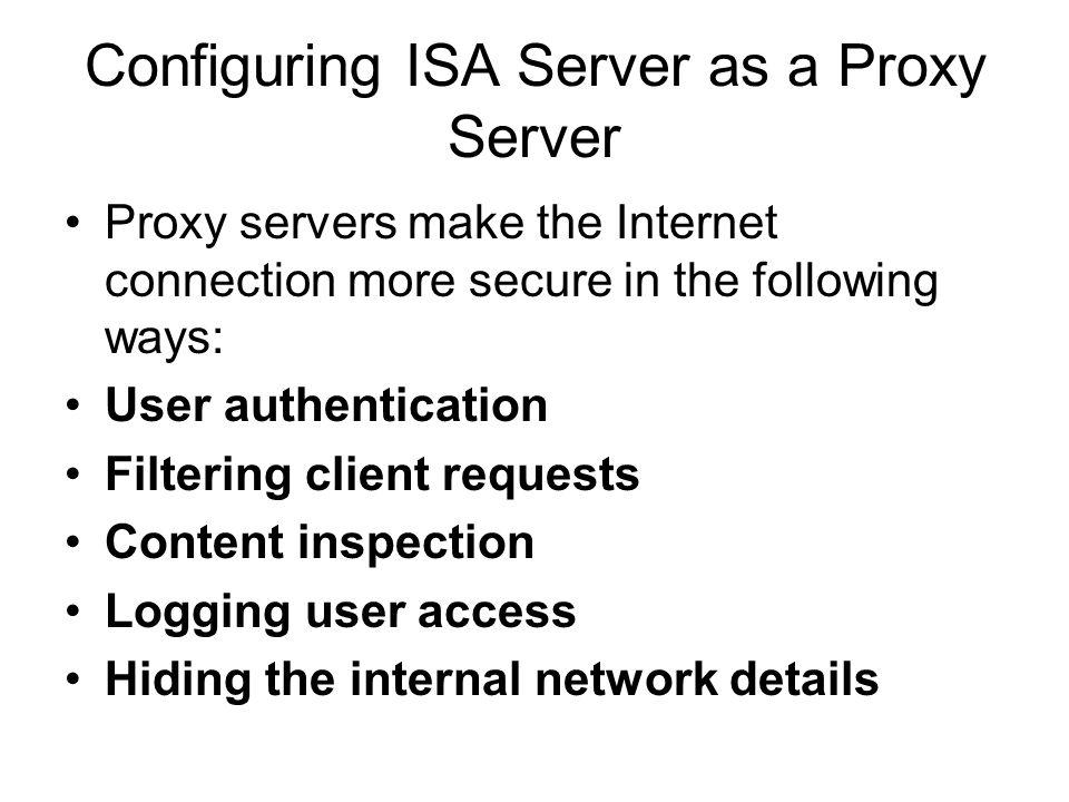 In ISA server