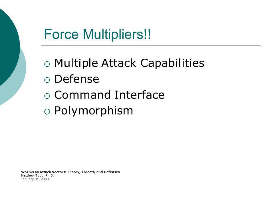 Force Multipliers!.
