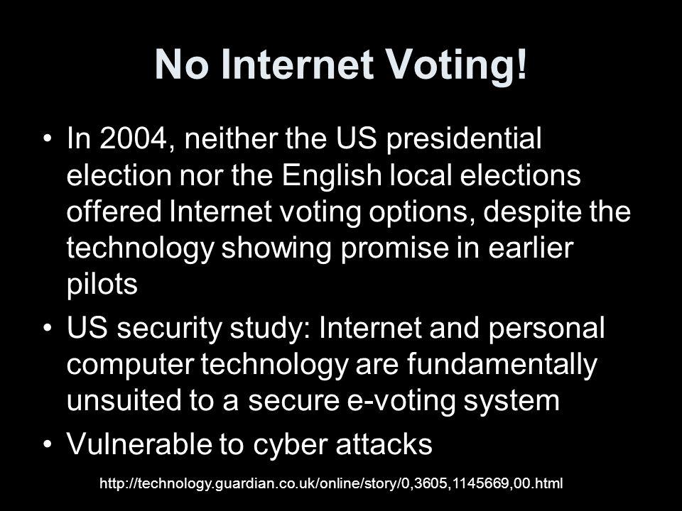 No Internet Voting.