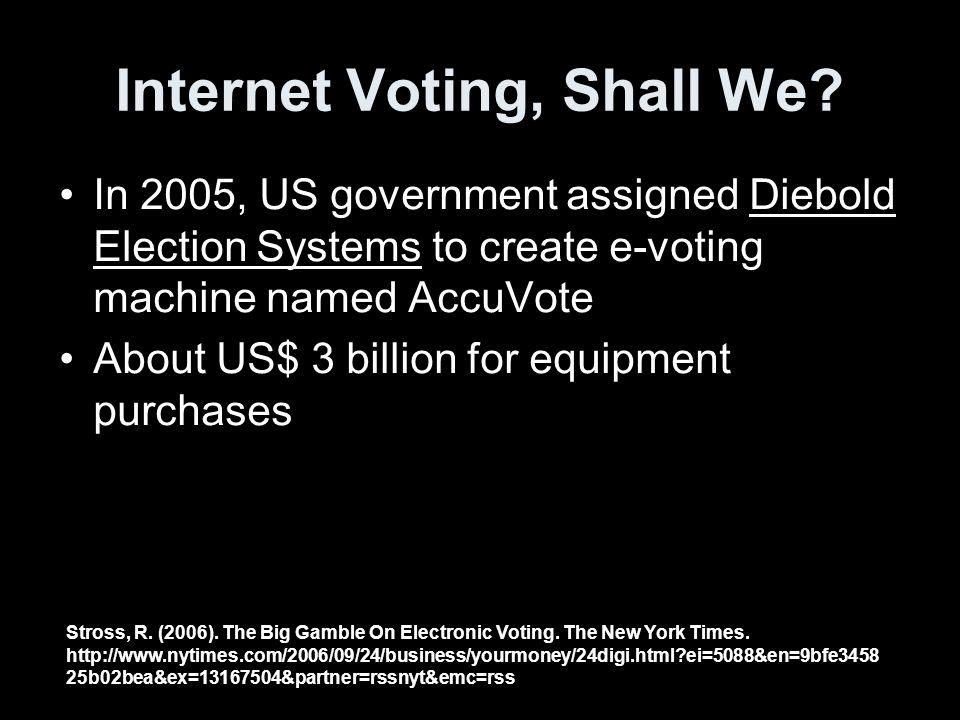 Internet Voting, Shall We.