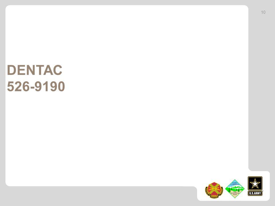 DENTAC 526-9190 10
