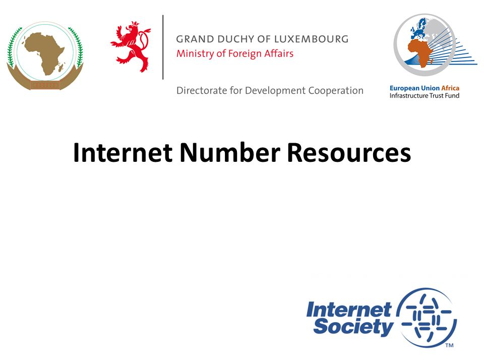 Internet Number Resources 1