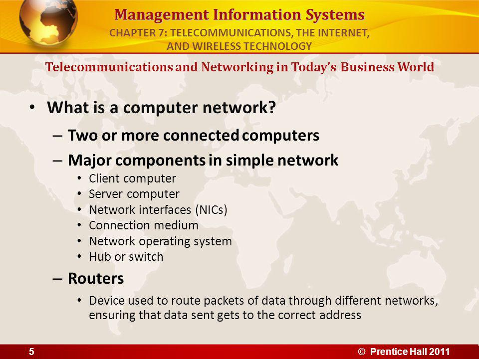 Management Information Systems What is a computer network.