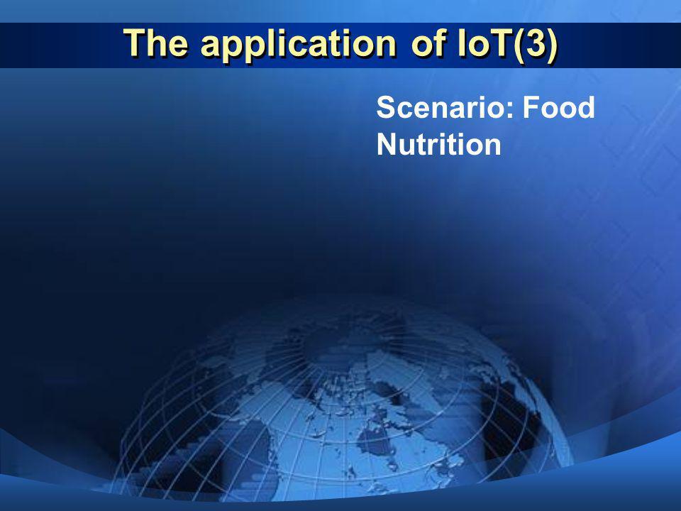 The application of IoT(3) Scenario: Food Nutrition