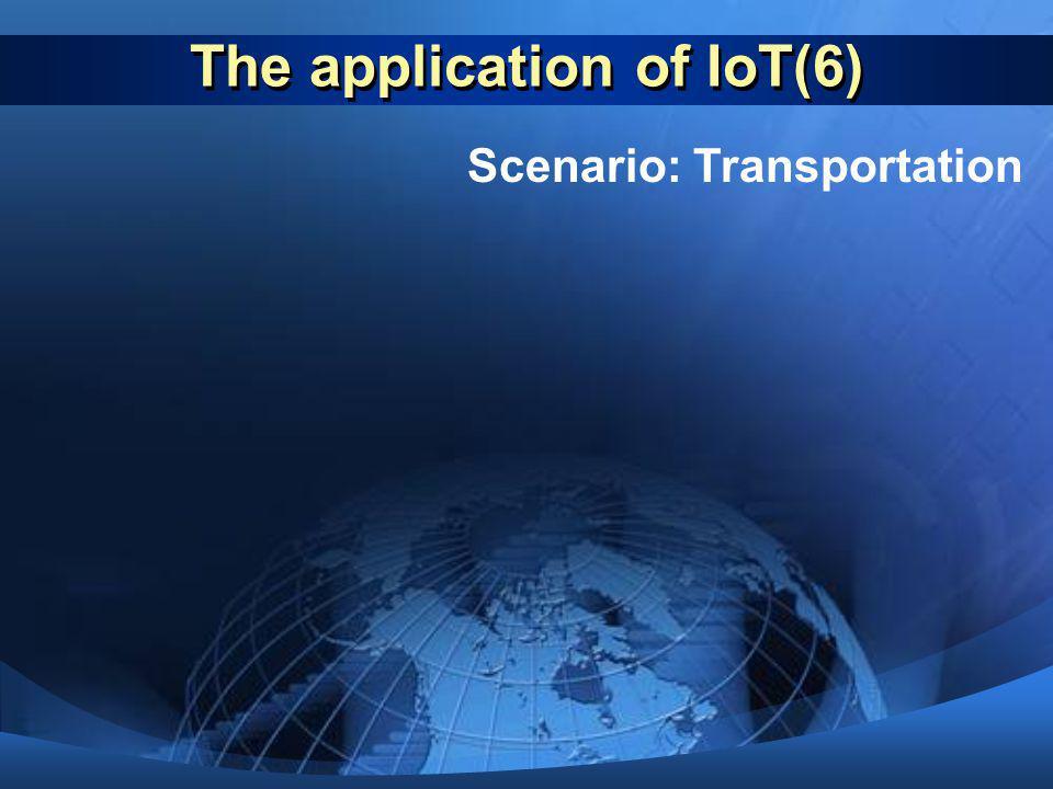 The application of IoT(6) Scenario: Transportation